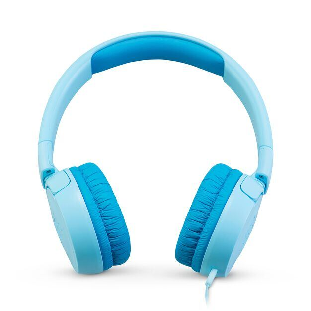 JBL JR300 - Ice Blue - Kids on-ear Headphones - Front