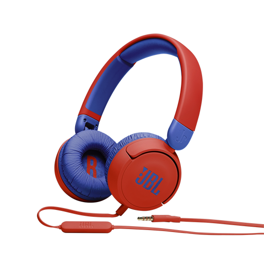 JBL Jr310 - Red - Kids on-ear Headphones - Hero