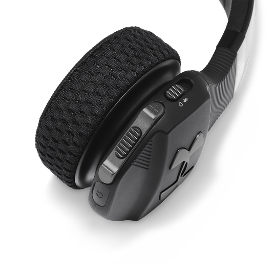 UA Sport Wireless Train – Engineered by JBL - Black - Wireless on-ear headphone built for the gym - Detailshot 3