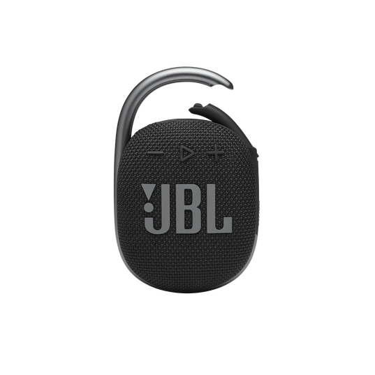 JBL CLIP 4 - Black - Ultra-portable Waterproof Speaker - Front