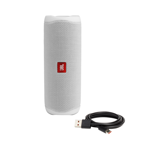 JBL FLIP 5 - White - Portable Waterproof Speaker - Detailshot 1