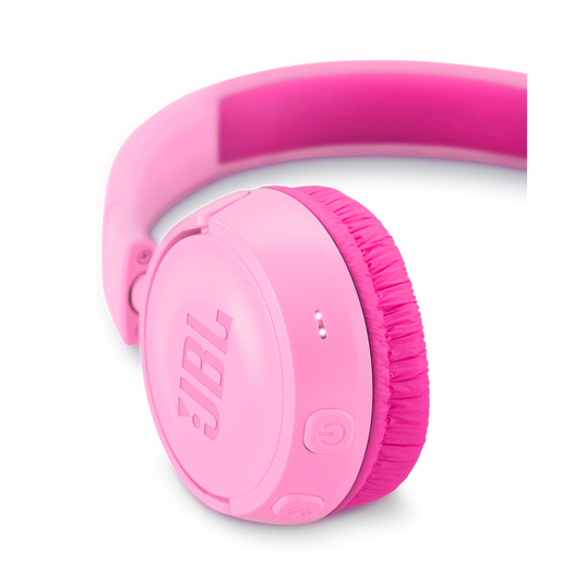 JBL JR300BT - Punky Pink - Kids Wireless on-ear headphones - Detailshot 2