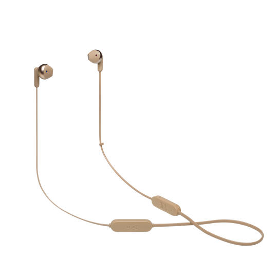 JBL TUNE 215BT - Champagne Gold - Wireless Earbud headphones - Hero