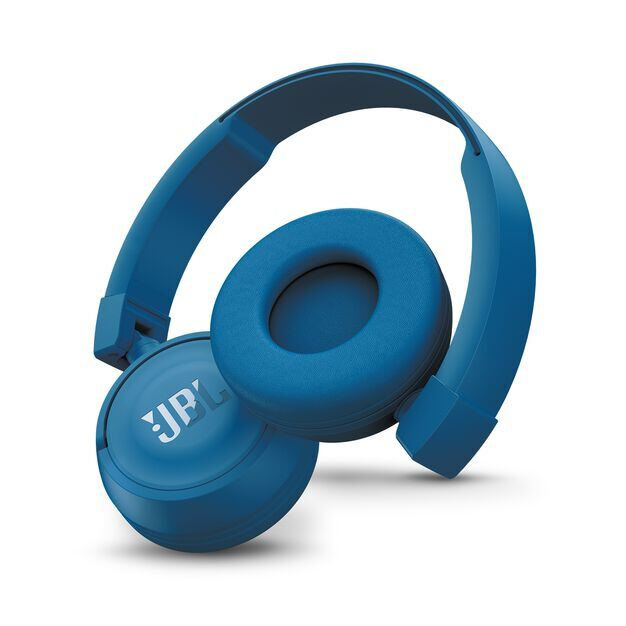 JBL T450BT - Blue - Wireless on-ear headphones - Detailshot 1