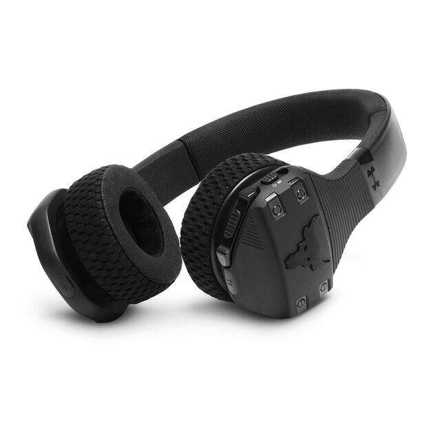 UA Sport Wireless Train Project Rock – Engineered by JBL - Black - On-ear sport Headphones - Detailshot 1