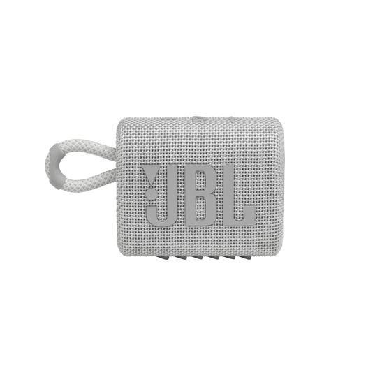 JBL GO 3 - White - Portable Waterproof Speaker - Front