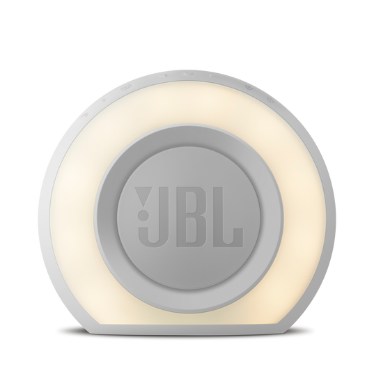 JBL Horizon - White - Bluetooth clock radio with USB charging and ambient light - Back