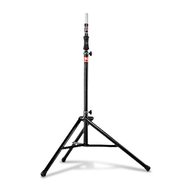 JBL Tripod Stand (Gas Assist) - Black - Lift-assist Aluminum Tripod Speaker Stand with Integrated Speaker Adapter - Hero