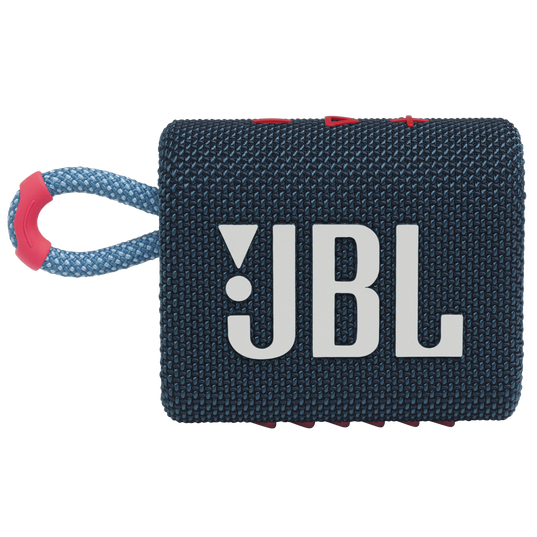 JBL GO 3 - Blue / Pink - Portable Waterproof Speaker - Front