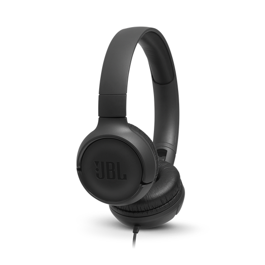 JBL TUNE 500 - Black - Wired on-ear headphones - Hero