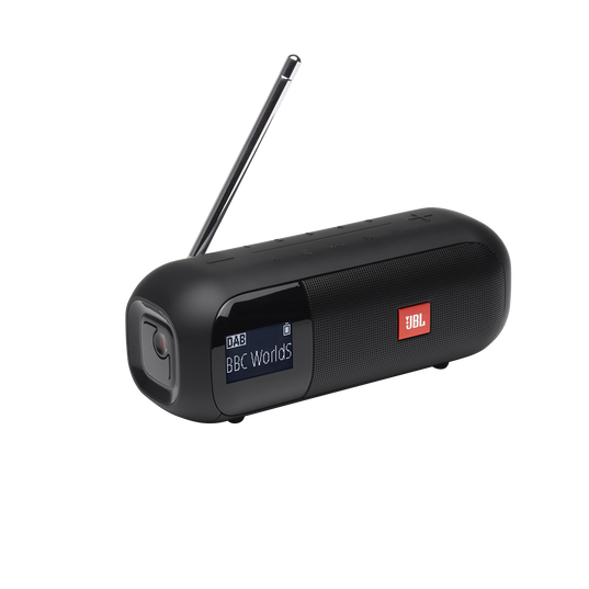 JBL Tuner 2 - Black - Portable DAB/DAB+/FM radio with Bluetooth - Hero