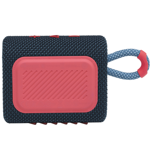 JBL GO 3 - Blue / Pink - Portable Waterproof Speaker - Back