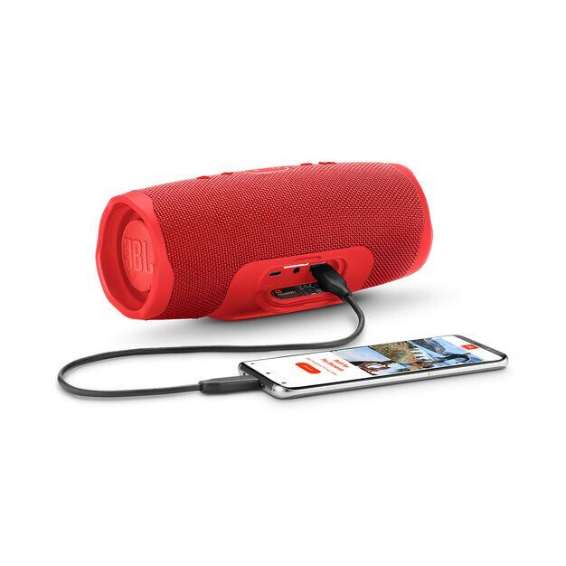 JBL Charge 4 - Red - Portable Bluetooth speaker - Detailshot 4