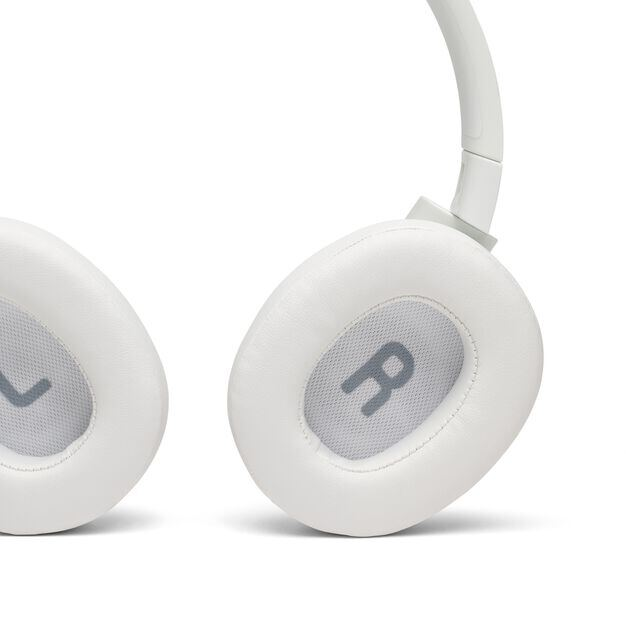 JBL TUNE 750BTNC - White - Wireless Over-Ear ANC Headphones - Detailshot 4