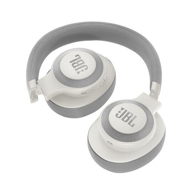 JBL E65BTNC - White - Wireless over-ear noise-cancelling headphones - Detailshot 2