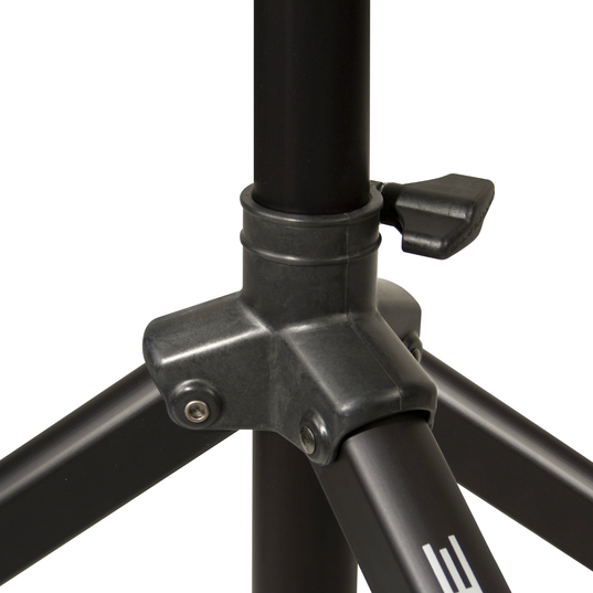 JBL Tripod Stand (Manual Assist) - Black - Aluminum Tripod Speaker Stand with Secure Locking Pin and 150 lbs Load Capacity - Detailshot 2
