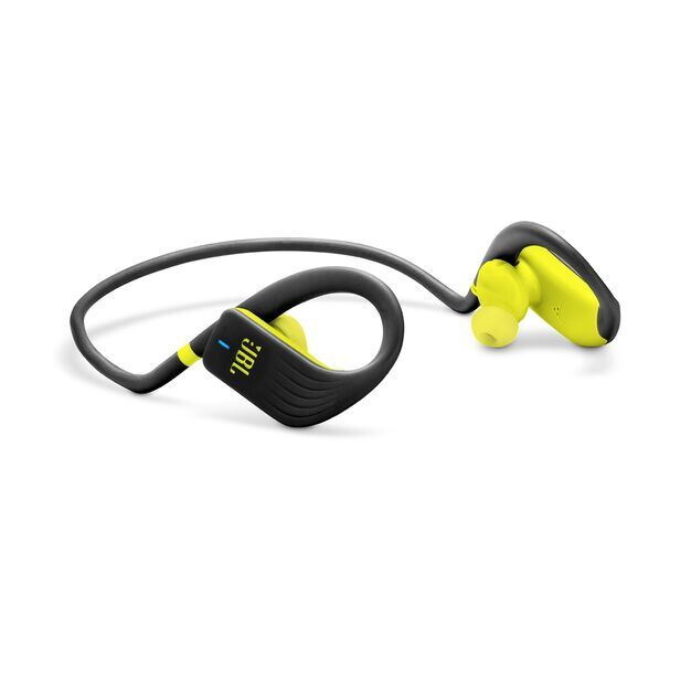 JBL Endurance JUMP - Yellow - Waterproof Wireless Sport In-Ear Headphones - Detailshot 1