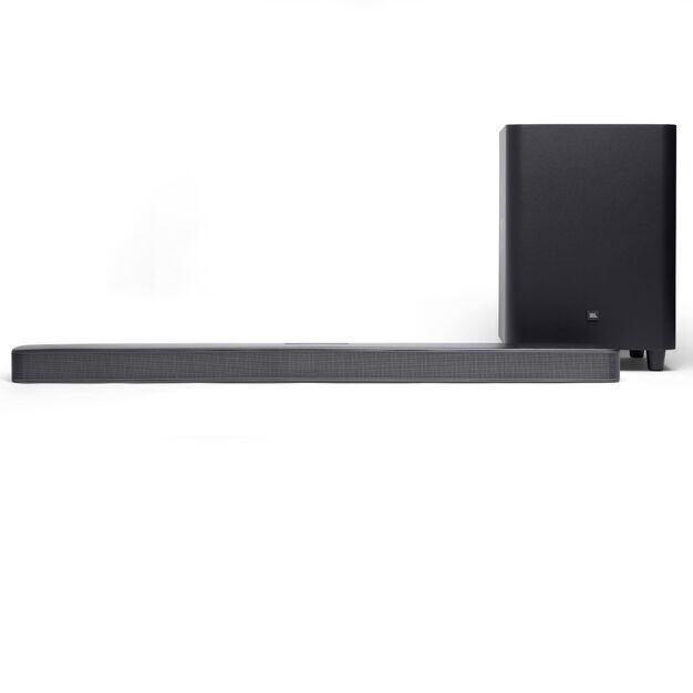 JBL Bar 5.1 Surround - Black - 5.1 channel soundbar with MultiBeam™ Sound Technology - Front
