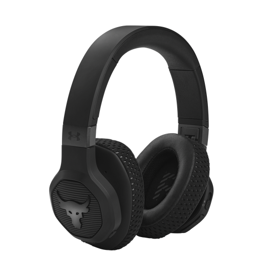 UA Project Rock Over-Ear Training Headphones - Engineered by JBL - Black - Over-Ear ANC Sport Headphones - Right