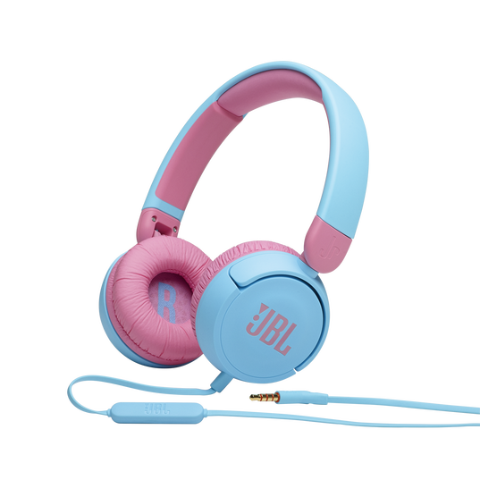 JBL Jr310 - Blue - Kids on-ear Headphones - Hero