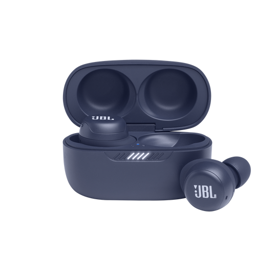 JBL Live Free NC+ TWS - Blue - True wireless in-ear NC headphones - Hero