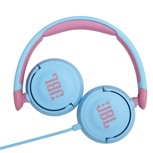JBL Jr310 - Blue - Kids on-ear Headphones - Detailshot 3