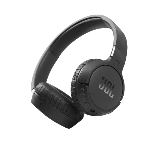 JBL Tune 660NC - Black - Wireless, on-ear, active noise-cancelling headphones. - Hero