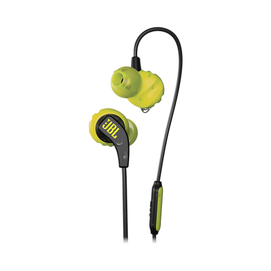 JBL Endurance RUN - Yellow - Sweatproof Wired Sport In-Ear Headphones - Hero