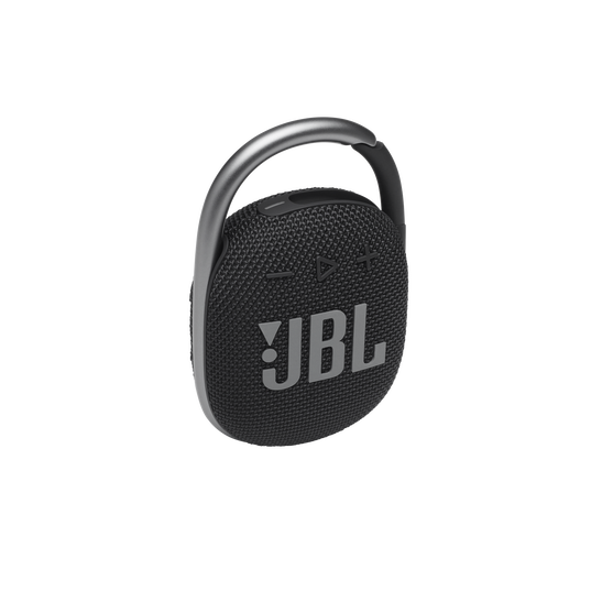 JBL CLIP 4 - Black - Ultra-portable Waterproof Speaker - Hero