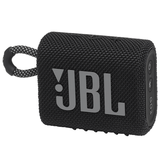 JBL GO 3 - Black - Portable Waterproof Speaker - Hero