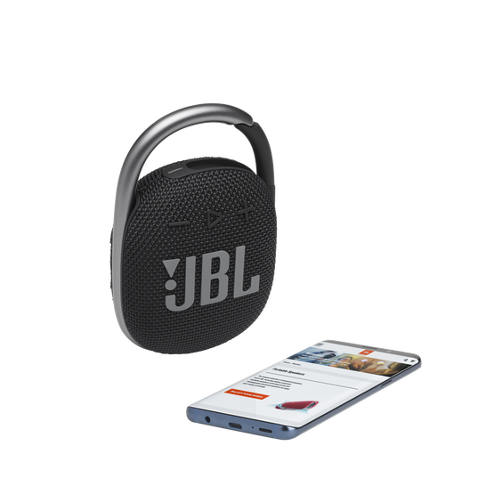 JBL CLIP 4 - Black - Ultra-portable Waterproof Speaker - Detailshot 1