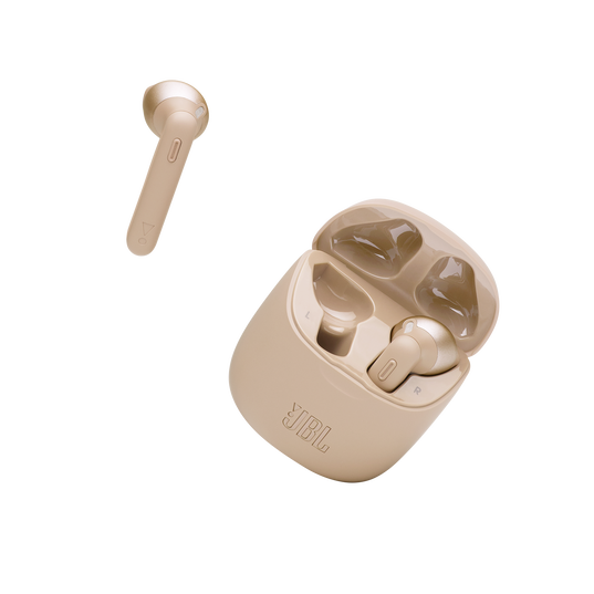 JBL Tune 225TWS - Gold - True wireless earbud headphones - Detailshot 3