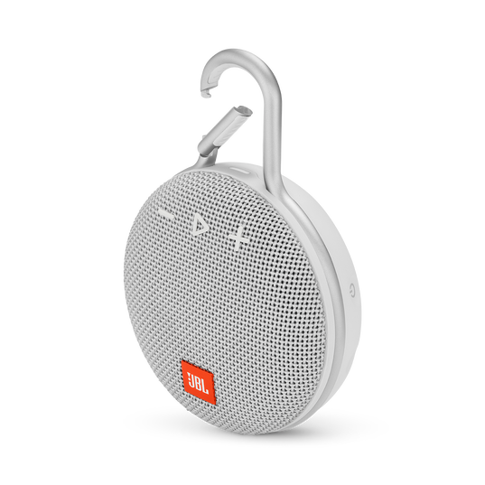 JBL CLIP 3 - Steel White - Portable Bluetooth® speaker - Hero