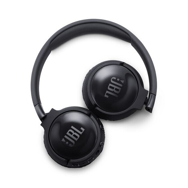 JBL TUNE 600BTNC - Black - Wireless, on-ear, active noise-cancelling headphones. - Detailshot 4