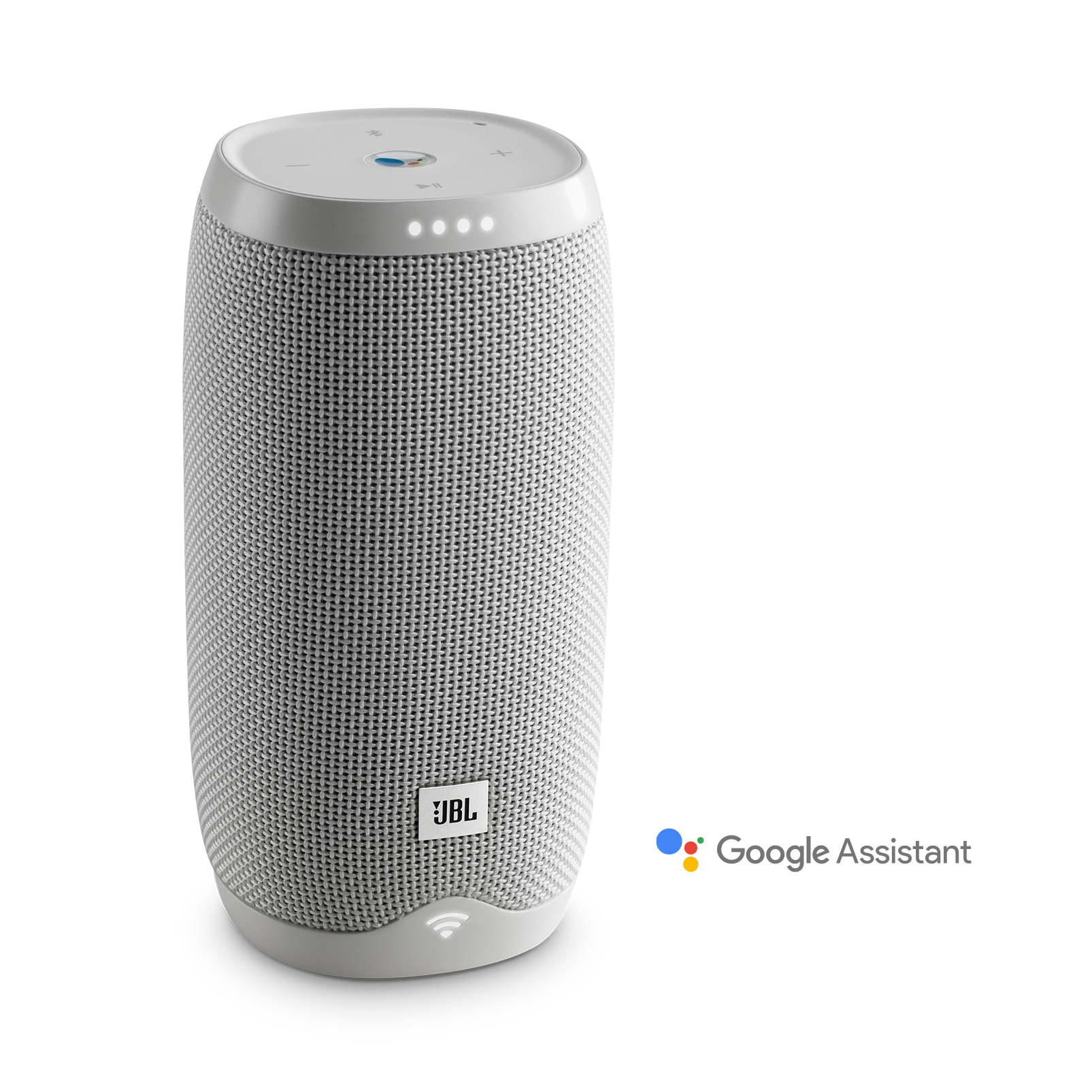JBL Link 10 - White - Voice-activated portable speaker - Hero